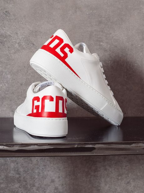 Gcds Sneakers uomo logo rosso