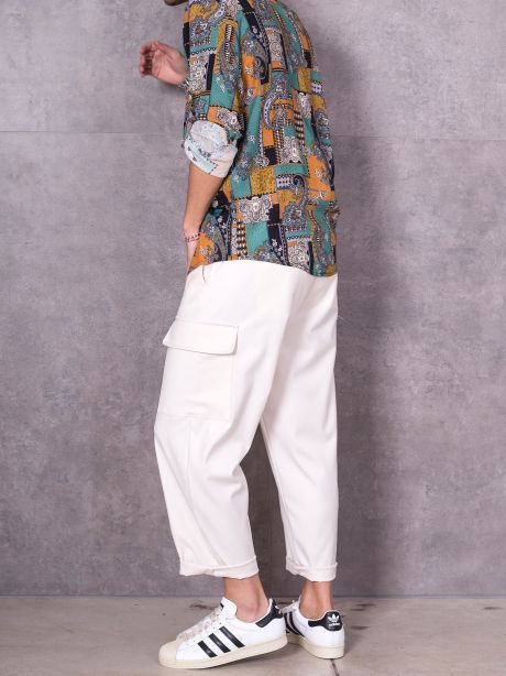 Imperial Pantalone cargo cropped con coulisse