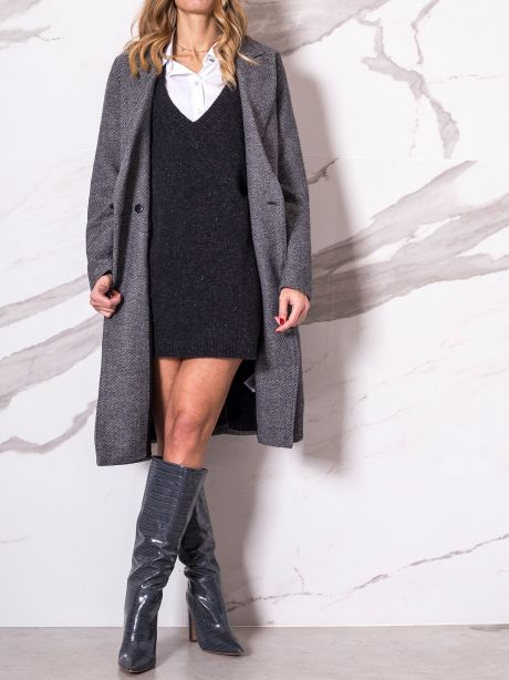 Only Cappotto lungo spinato