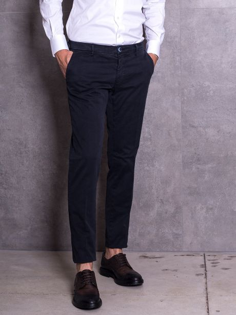 Powell Pantalone blu chinos in cotone