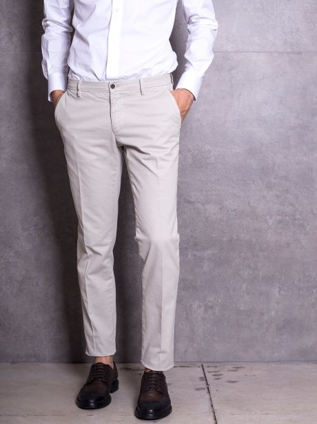 Powell Pantalone beige chinos in cotone