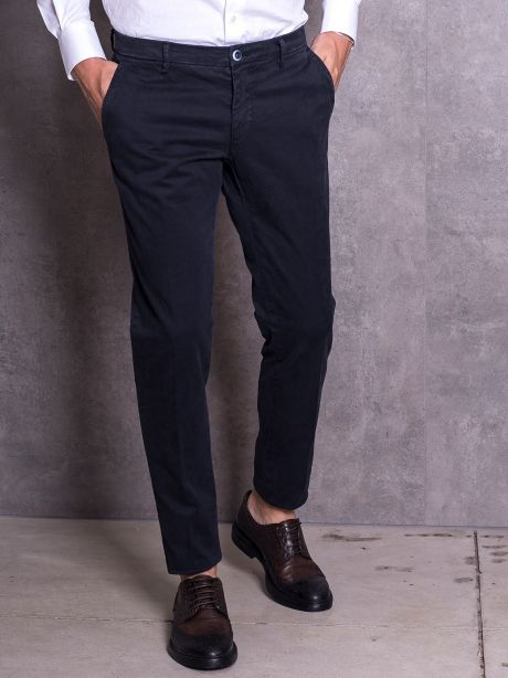 Powell Pantaloni chinos blu in jersey