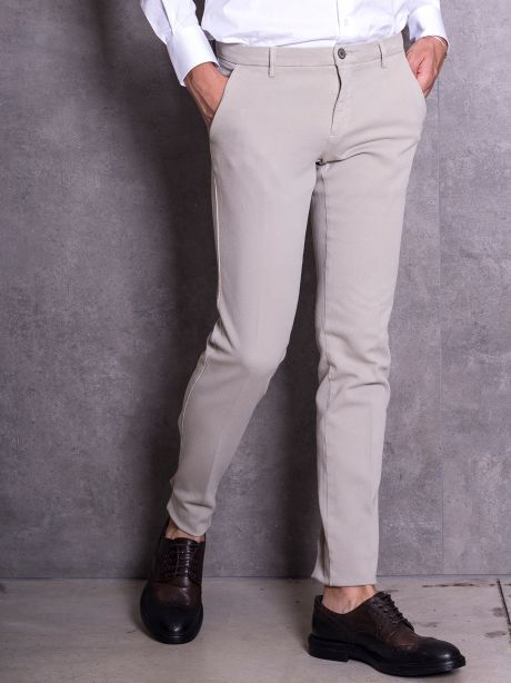 Powell Pantaloni chinos beige in jersey
