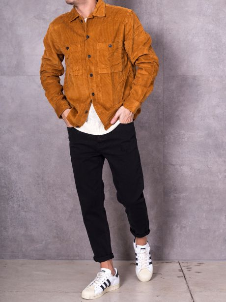 Selected Overshirt velluto a coste