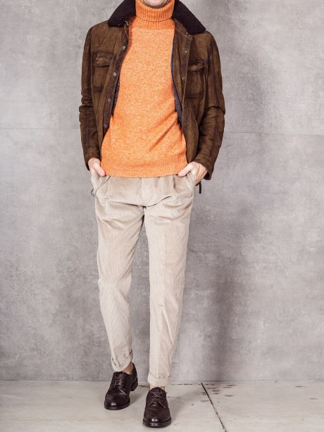 The Jack Leathers Giubbotto in suede