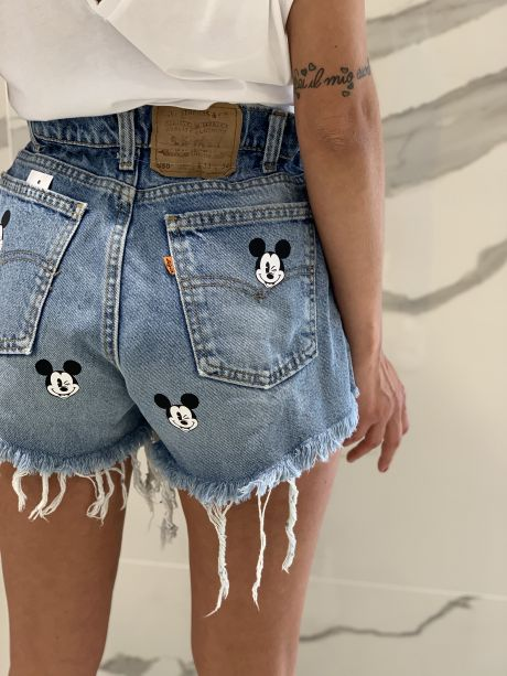 Short caramella Mickey Mouse