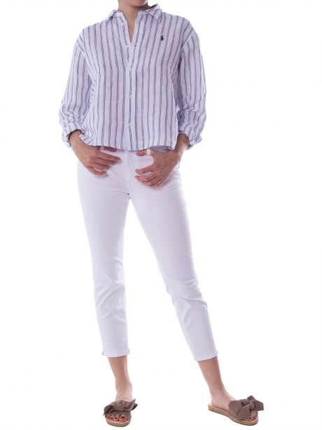 DONDUP Jeans Newdia slim fit bianco