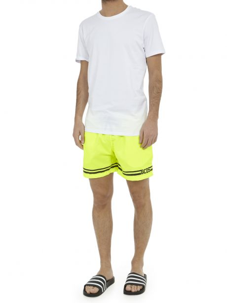 GCDS Costume shorts giallo fluo