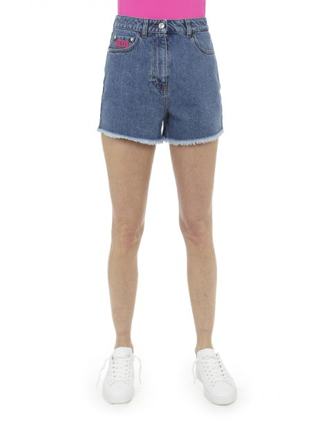 GCDS Shorts blu in denim