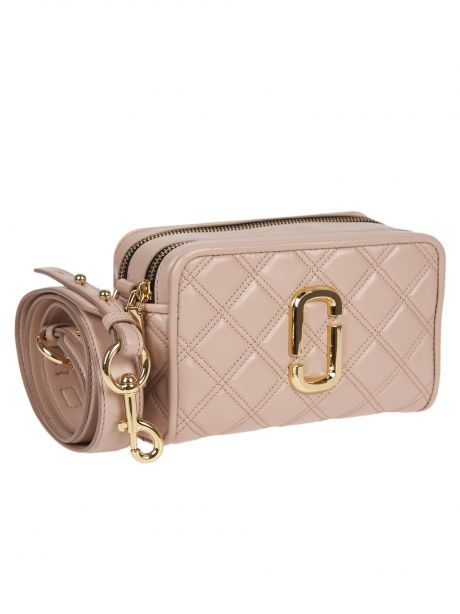 MARC JACOBS Borsa THE QUILTED SOFTSHOT 21 nude
